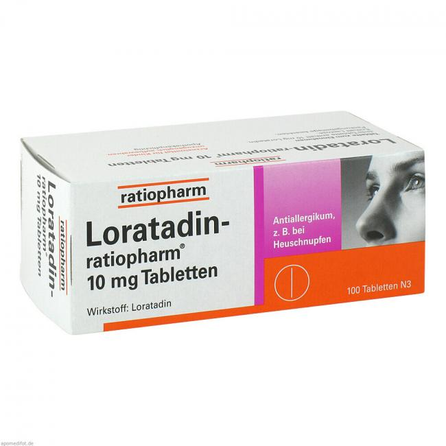 loratadin ratiopharm 10 mg tabletten 100 st. Black Bedroom Furniture Sets. Home Design Ideas
