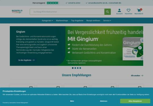Bodfeld-Apotheke Screenshot