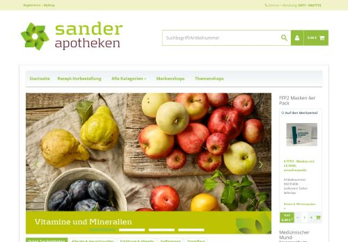 Apotheke Sander Screenshot