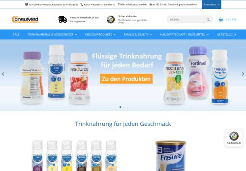ConsuMed GmbH & Co. KG Screenshot