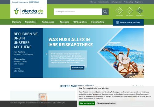 vitenda.de Screenshot