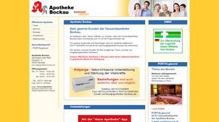 Apotheke Bockau Shop Screenshot